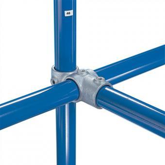 Rohrverbinder 46-6 Kreuzverbinder  seitlich Gr. 6 verzinkt