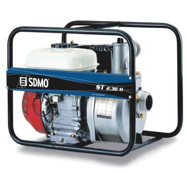 SDMO Motorwasserpumpe ST 2.36 H  Leistung: 36 m³ / Stunde, Honda Benzin GX120
