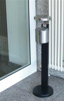 Ascher neusilber H.145xD.150mm  mit Ständer u.Regendach mit Kippvorichtung