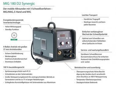 MIG/MAG-Schweißgerät MIG  250 S Set 30-250 A 3x400 V Teamwelder