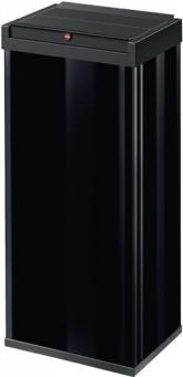 Abfallsammler 60l H770xB340xT260  mm Stahl schwarz mit Schwingdeckel schwarz