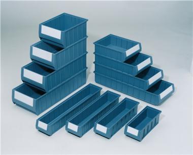 Regalkasten PP blau  L400xB117xH90mm - 16 ST