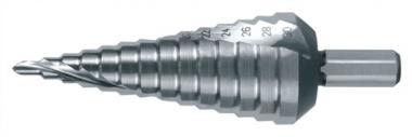 Mehrstufenbohrer 4-12mm HSS spiralgenutet  2 Schneiden