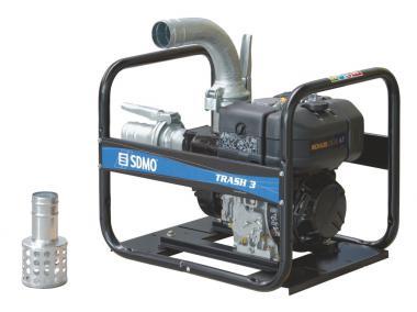 SDMO Schmutzwasserpumpe TRASH 3  Leistung: 65 m³ / Stunde, Kohler Diesel KD 350
