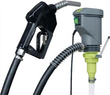 Elektropumpe 35l/min f.Diesel/Heizöl  m.Automatik-Zapfventil Ansaugstufe