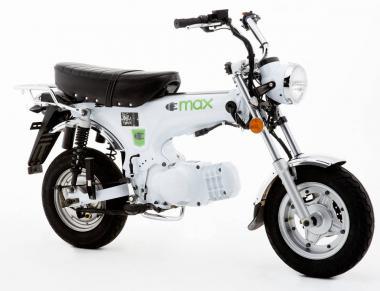 Elektrozweirad E-Max, 25km/h,  weiss  Retro-Bike, 800W/20Ah/15Nm