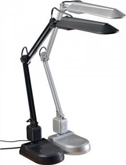 Schreibtischleuchte Ku.silber  m.Standfuß u. Klemme max.650mm