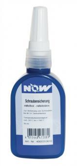 Schraubensicherung 50ml mittelfest blau  50ml Flasche  NOW -55/+150Grad C