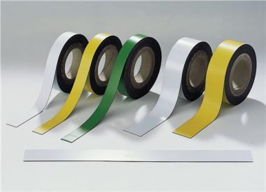 Magnetband weiß B.50mm L.10m