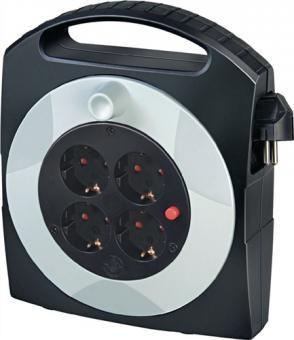 KabelboxKabel-L.15m H05VV-F 3G1,54xSchuko  Steckdosenaus Spezial-Kunststoff