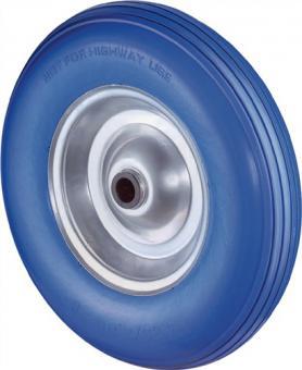 Polyurethanrad D.400mm Trgf.200kg Naben-L.75mm  Rad Stahlfelge PU-Reifen blau
