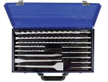 Einsteckwerkzeugeset 13tlg. SDS-Plus flach/spitz  PROMAT m.Spatmeißel