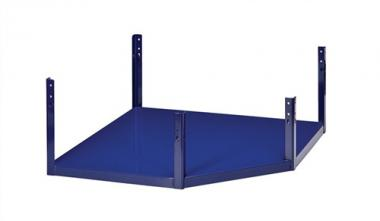 Regalelement Eckbodenteil LOGS 230  H520xB540xT390mm Blau RAL 5022