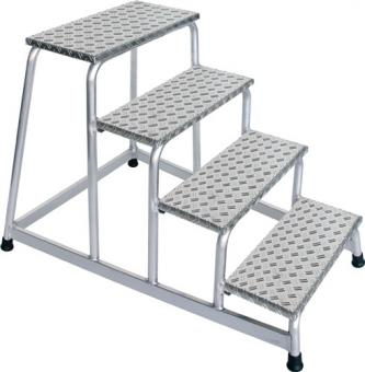 Arbeitspodest Aluminium 4  Stufen Podesthöhe 800 mm