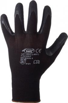 Handschuh EN 388 Kat.II Finegrip Gr.9 - 12 PA  Schrumpf-Latex schwarz