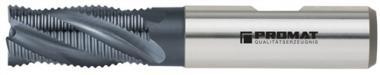 Schaftfräser DIN844 Typ HR D.6mm HSS-Co5  TiCN Schneiden kurz