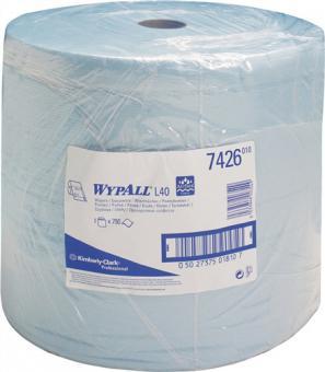 Putztuch WYPALL L30 ULTRA,7426  L.380xB.330ca.mm 3-lagig,perforiert,blau