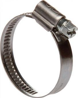 Schlauchschelle B.9mm 40-60mm - 25 ST  W1 Preis/100St.verzinkt