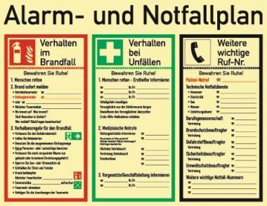 Schild Alarm-u.Notfallpl. 620x480mm  z.Selbstbeschriften ASR A1.3 DIN EN ISO 7010