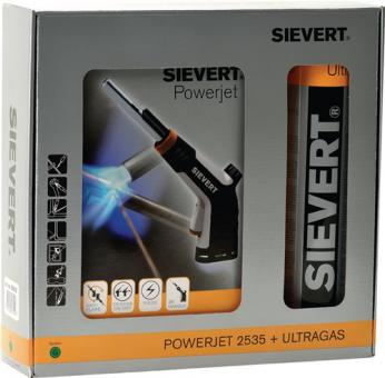 Lötlampe Powerjet 2535  inkl.Zyklonbrenner 8706 u. Kart. 2205 Sievert