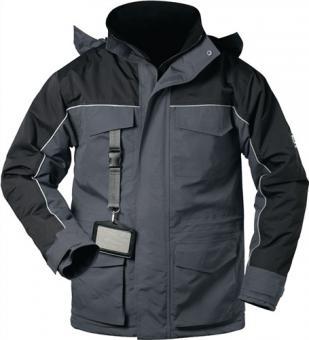 Parka Cardigan Gr.XL grau/schwarz 100% Polyamid