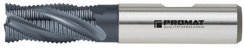 Schaftfräser DIN844 Typ HR D.6mm HSS-Co5