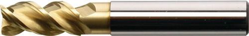 Schaftfräser Typ W D.6mm VHM ZrN 3Schneiden lang