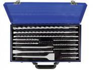 Einsteckwerkzeugeset 13tlg. SDS-Plus flach/spitz