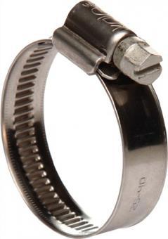 Schlauchschelle 12mm 60-80 W4 Edelstahl - 25 ST  DIN 3017 schwere Ausführung