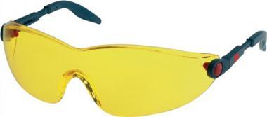 Schutzbrille 2742 Bügel blau/rot AS AF UV  EN166 PC gelb einstellbare Bügel 3M