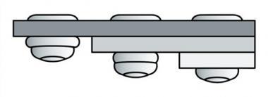 Blindniet Alu./Stahl 3,2x8mm dxl PolyGrip - 1000 ST  GESIPA f.0,5-5mm