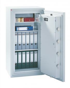 Wertschutzschrank SE 3 H1380xB825xT700mm  1 Tür 3 Böden lichtgrau