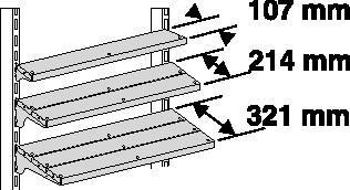 Lamellenboden B1000xT107xH30mm  inkl. Bodenträger  ESD