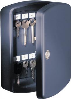 Schlüsselbox Key-Box Höhe  202mm Breite 157mm Tiefe 75mm 15 Haken schwarz