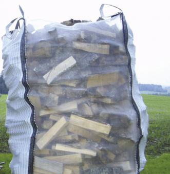 Big Bag für Brennholz 1.5m³, belüftet - 5 Stk  100x100x150cm; m. Bodenöffnung; 5Stk