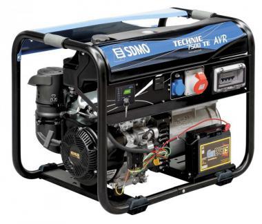 SDMO Stromerzeuger Technic 7500 TE AVR  6,5 kW/8,1 kVA / 400V/230V, Kohler OHV Benzin