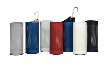Schirmständer D.270xH610mm  weiß Behälter gelocht