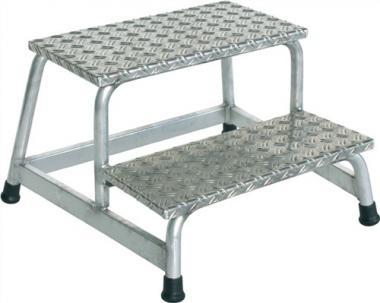 Arbeitspodest Aluminium 2  Stufen Podesthöhe 400 mm
