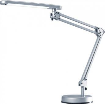 Schreibtischleuchte Alu.silber  m.Standfuß m.Leuchtmittel,Ausladung max.670mm LED