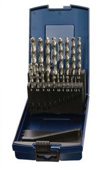 Spiralbohrersatz DIN338 Typ N 1-10mm 0,5mm  HSS-Co 19tlg.Ku.-kassette