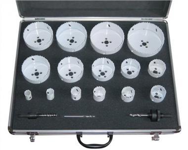 Zylindersägensatz 18tlg. D.19-114mm  Schnitt-T.38mm PROMAT i.Alu.-Koffer