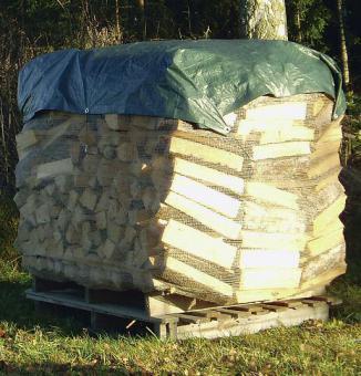Brennholzabdeckung 1.5x10m  Plane mit Schnüren und Haken