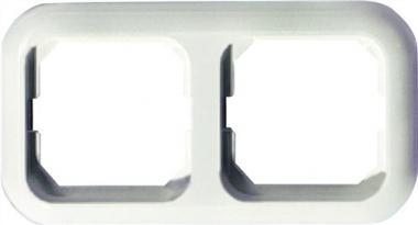Abdeckrahmen 2fach reinweiß f.Senk-/Waagerecht  OPUS