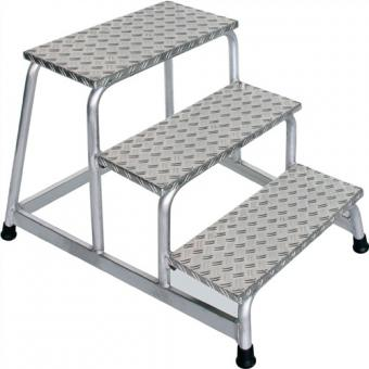 Arbeitspodest Aluminium 3  Stufen Podesthöhe 600 mm