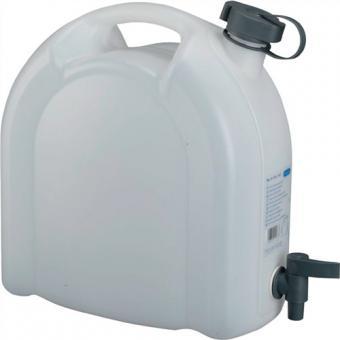 Wasserkanister 10L weiß stapelbar PE m. Ablasshahn