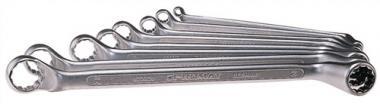 Doppelringschlüsselsatz 10tlg. DIN838  SW6x7-24x27mm PROMAT ISO3318/1085