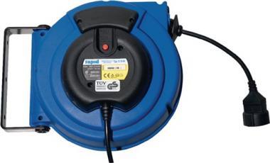 Kabelaufroller Kabellänge  15 m Kabel H05VV-F3G-1,5 mm2
