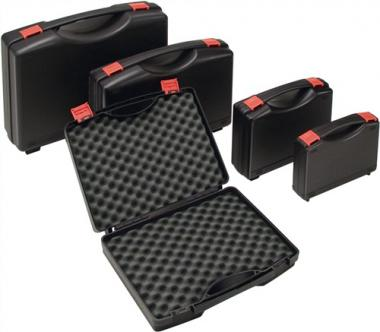 Kunststoffkoffer PP schwarz  mit Schaumstoffeinlage L395xB295xH106mm