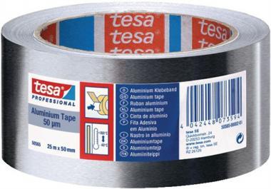 Aluminiumklebeband 50565 tesaband L.50m  B.50mm farblos Alufolie 50 µm o.Liner