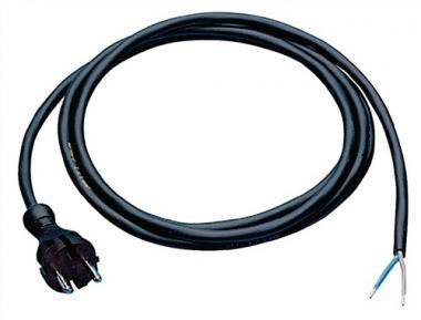 Anschlussleitung H07RN-F 2x1mm2 L.5m  m.Konturenstecker schwarz